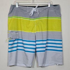 Quicksilver Boardshort Stripe Mens Size  XL.